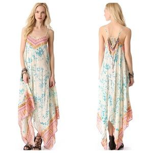 Free People Wild Devine Printed Maxi Dress White